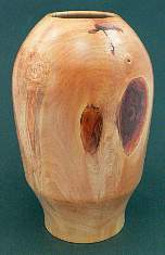 Image of an Horse Chestnut hollow vessel made by Chris Rymer of Inside Out Wood Art